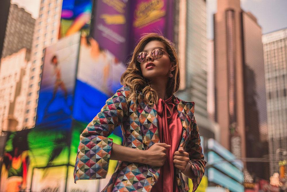 Time Square Fashion Blogger New York  @caroseditorial Caro Santamaria