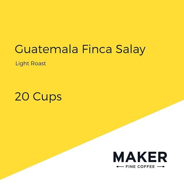 New fresh: washed from the mountains of Huehuetenango @makerfinecoffee