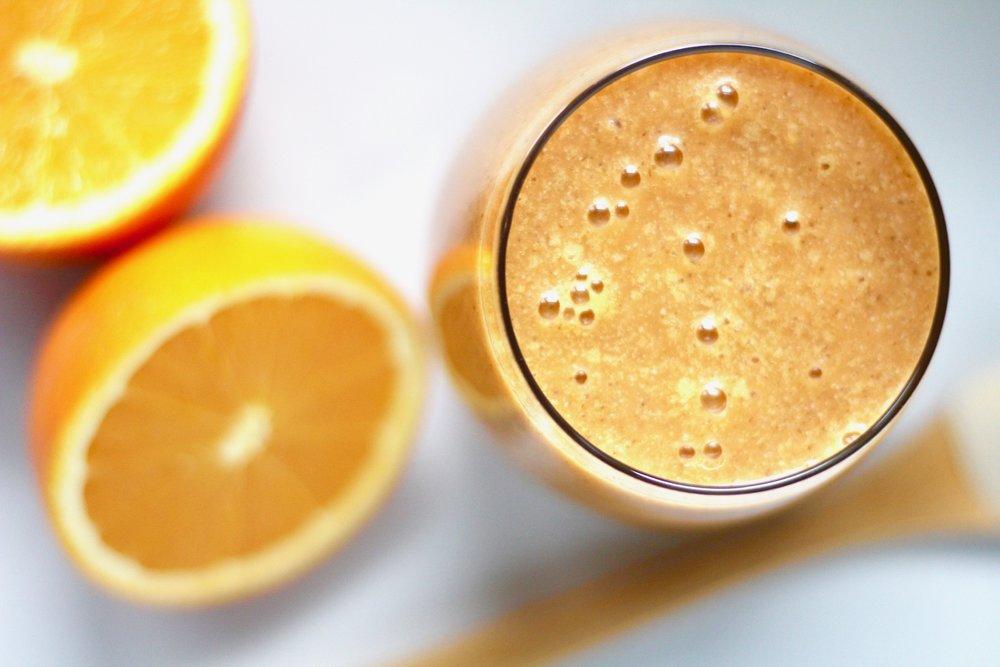 Orange Creamsicle Smoothie with Vanilla Bean Vegan Yogurt from Beetroot Nutrition
