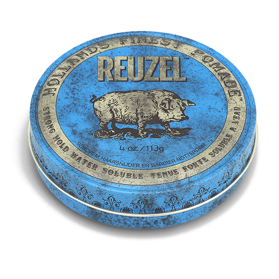 REUZEL BLUE POMADE   STRONG HOLD • HIGH SHINE • WATER SOLUBLE