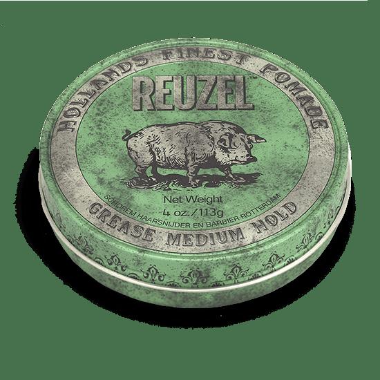 REUZEL GREEN POMADE   MEDIUM HOLD • MEDIUM SHINE • OIL BASED
