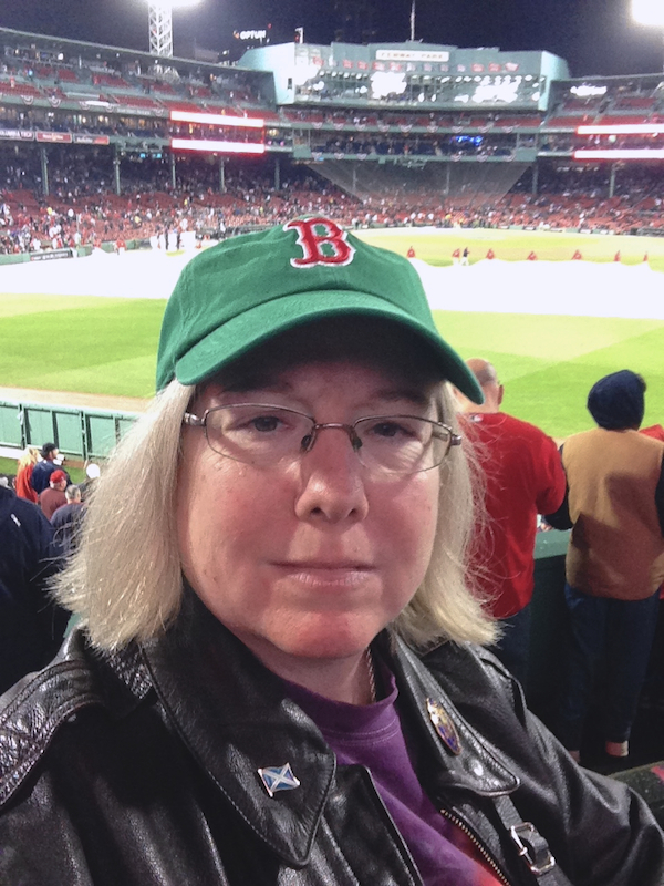 In the bleachers at Fenway, Game 1 of the 2018 World Series
