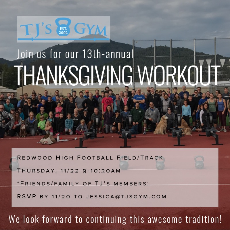 This is our favorite workout every year! We hope to see you all out there on Thanksgiving morning!