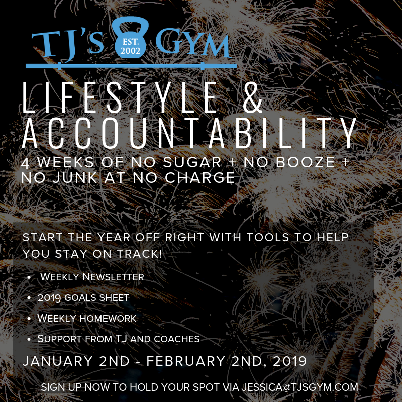 Start 2019 with a BANG with this FREE Lifestyle and Accountability Program. No excuses!