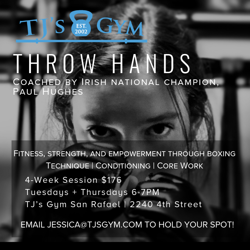 Coached by our very own PAUL HUGHES, This program will use boxing as a vehicle to improve fitness and strength and to empower athletes. Classes will include technique, conditioning, and core work, for a powerful and fun workout! We hope you'll give it a try!  STARTS JANUARY 8TH, 2019.