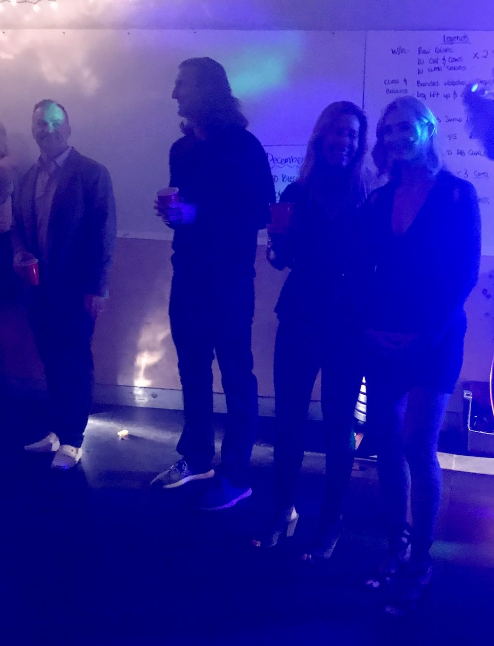 congrats to all of our Athletes of the year! - Apologies for the poor-quality photo, but this is what we got at the holiday party. Pictured here are AOTY's from San Rafael: Paul Hughes, Steph Goldsborough, and Sherri Bihn. Also pictured is Tom Fischer, ATOY from Mill Valley. Not pictured are our other Athletes of the Year, who have some explaining to do as to why they weren't at the party: Julie Knox from Mill Valley and Jacqui Miranda, Bob Kelly, and Jimmy Miranda from Corte Madera. AOTY honors go to long-time members who embody the spirit of our community and support our efforts in various ways, year-round.
