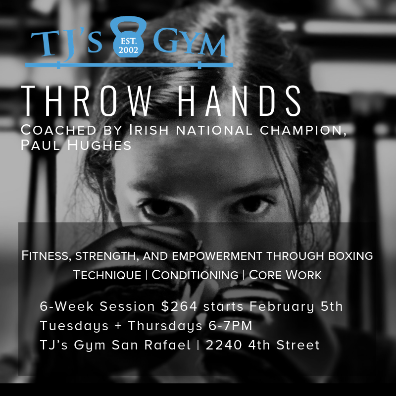 Coached by our very own PAUL HUGHES, This program uses boxing as a vehicle to improve fitness and strength and to empower athletes. Classes include technique, conditioning, and core work, for a powerful and fun workout! Let us know if you'd like to give it a try!