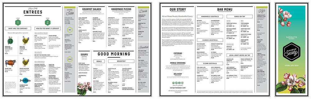 Honor Society menu designb