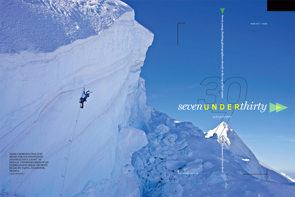 Climbing Magazine - Feature Spread