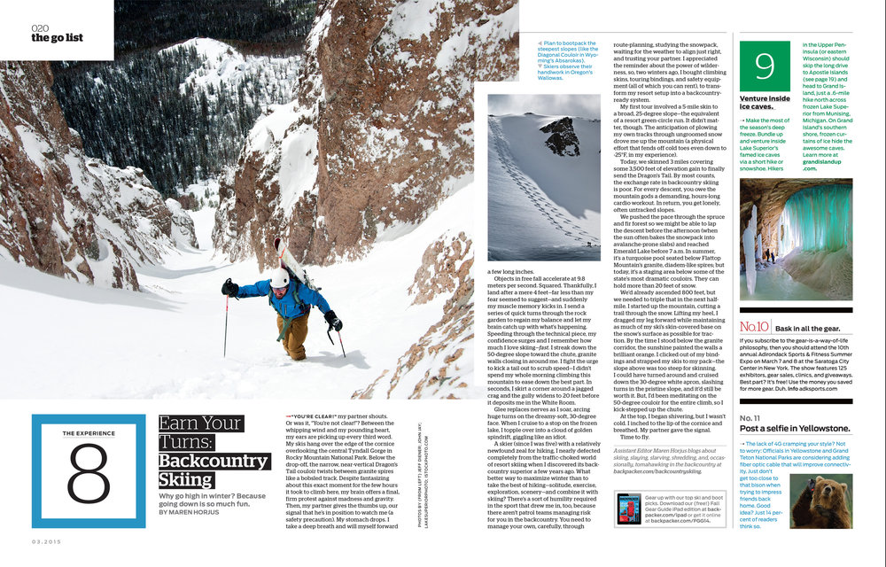 Backpacker Magazine - FOB Spread