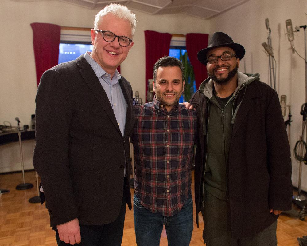 In the studio with Matt Wilson and Sullivan Fortner.