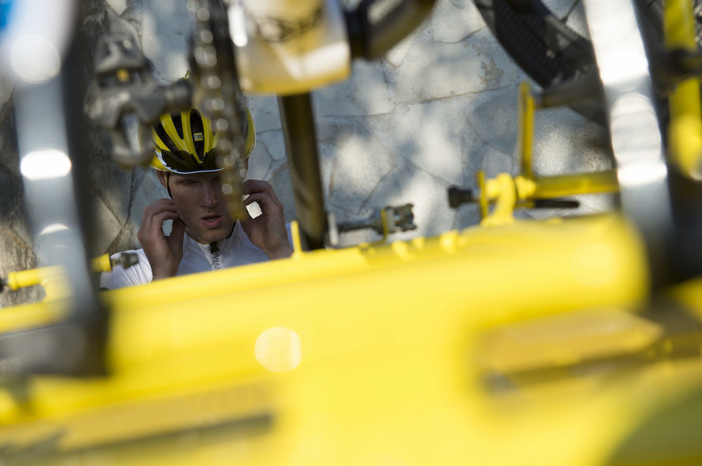 Mike Cotty at the start of Les Alpes 2013.jpg