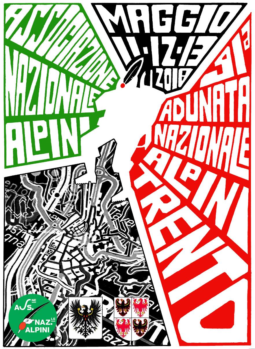 91a Adunata Nazionale Alpini   Poster design  2017