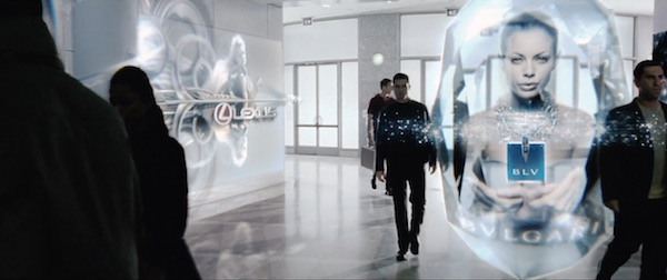 Pictured: Still from Minority Report (2002), showing personalised advertisements
