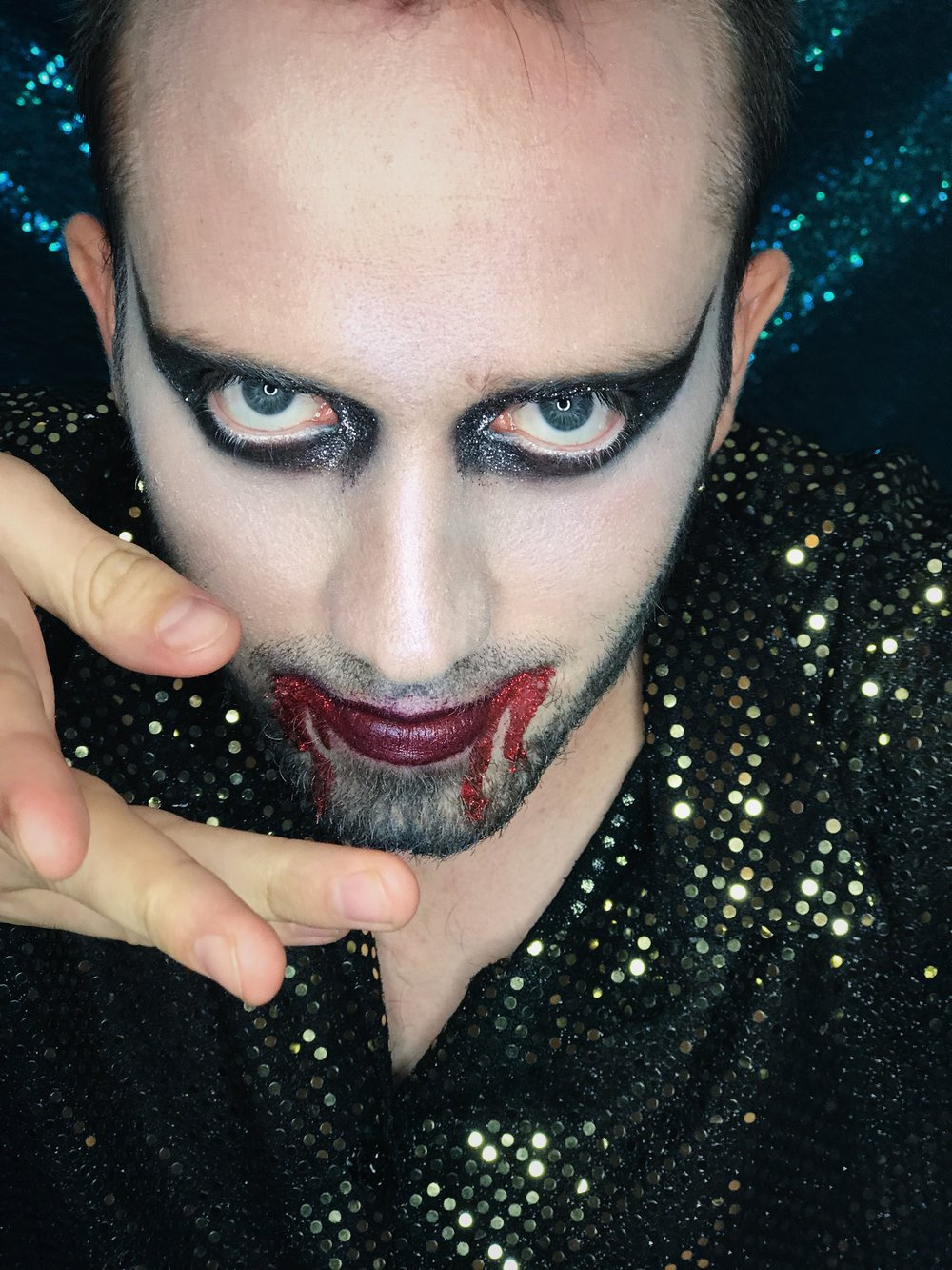 Biodegradable eco glitter vampire Halloween dress up make up inspiration Brighton 2018