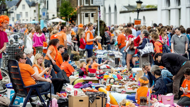 The traditional King's Day Flee Market