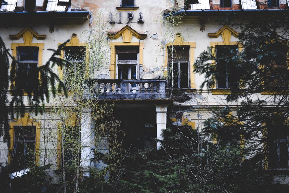 The decaying memory of Trenčianske Teplice -