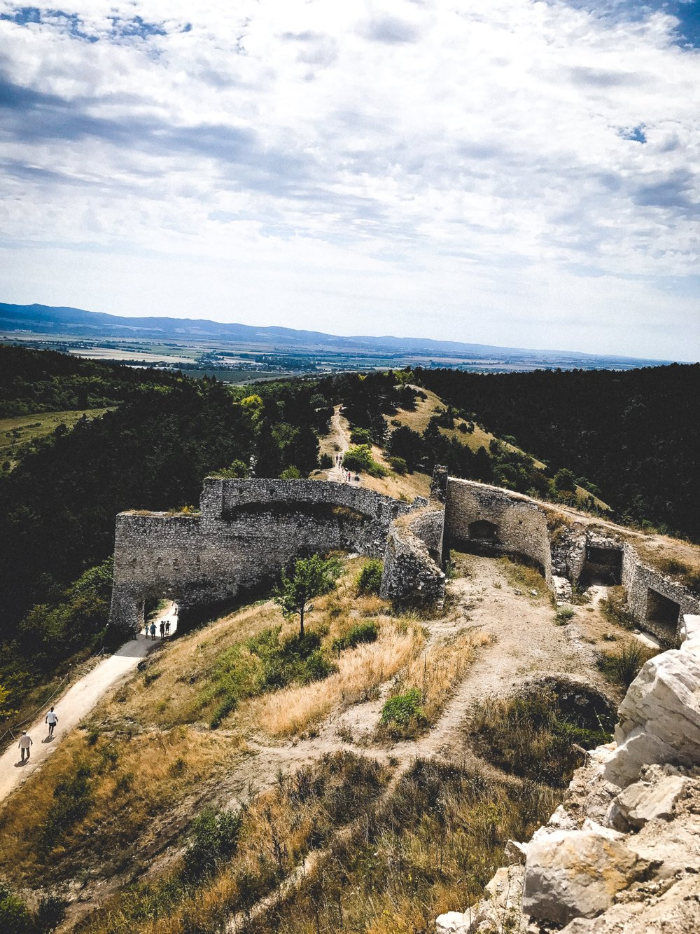 The ruins of Čachtice -