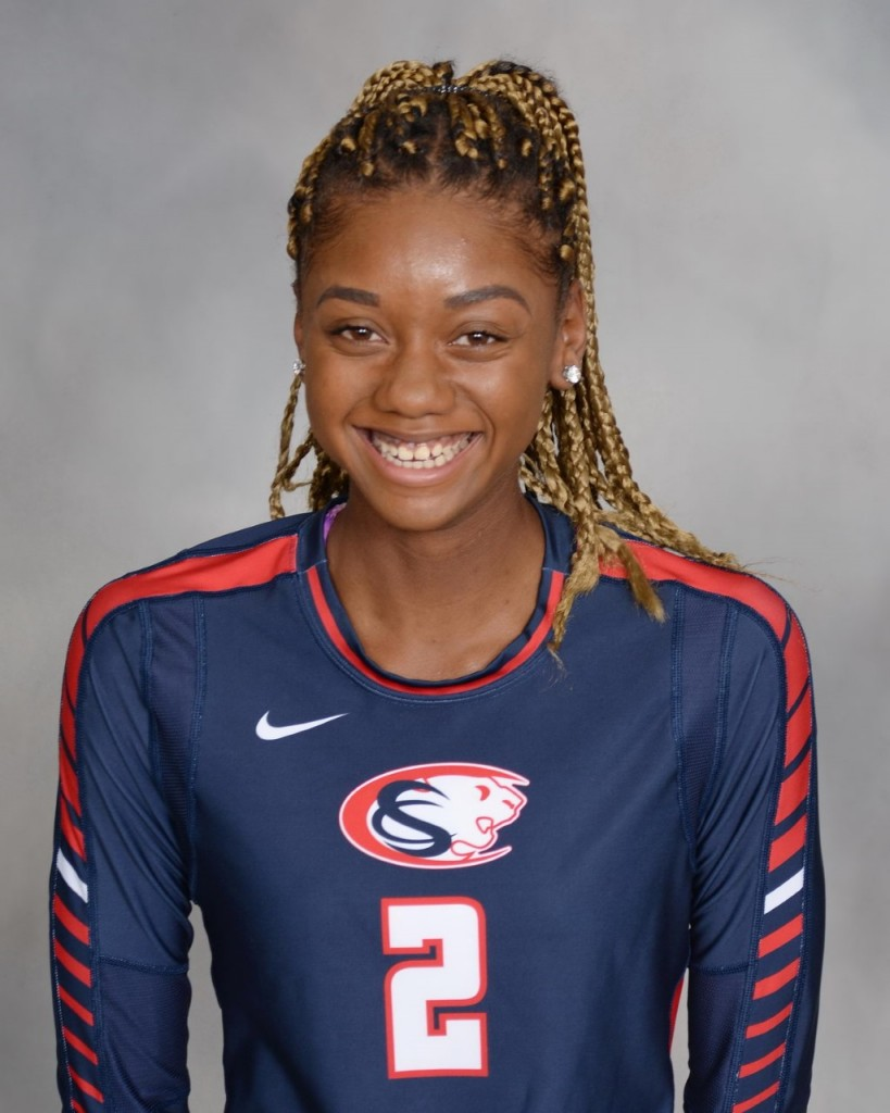 Tiffany Mack also takes her talents to the volleyball court. (Photo by Cy Springs athletics)