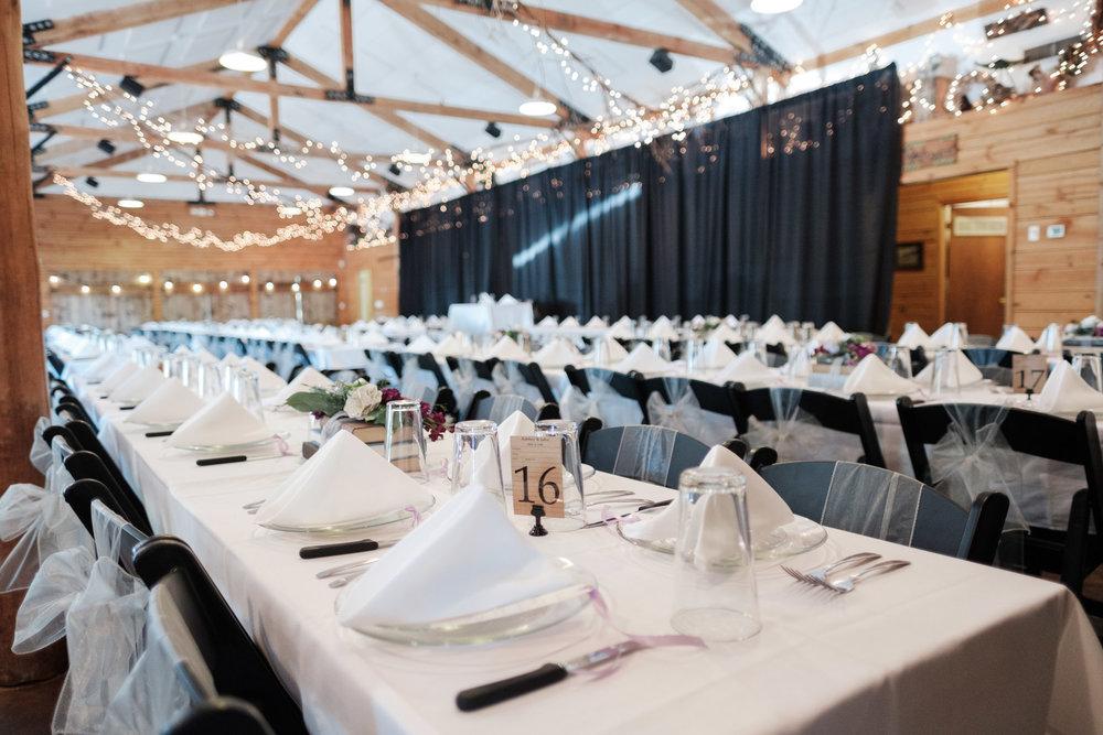 Tablescape at WIlliams Tree Farm wedding in Roscoe Illinois