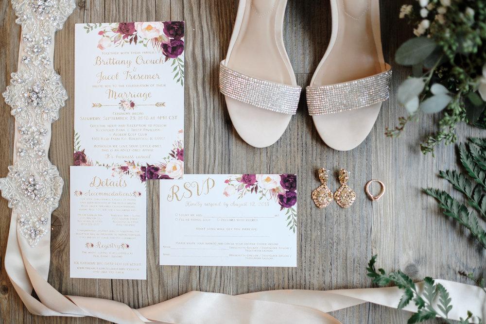 Bridal details at Rockford Bank and Trust Pavilion.