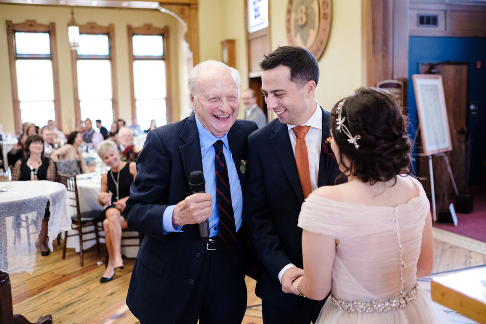 grandfather speech to bride and groom, wisconsin wedding