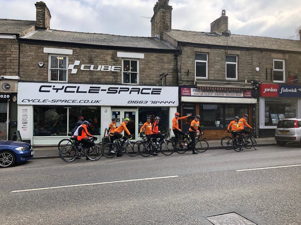 Why does this bike shop in Disley have a handwritten sign on the door saying 'Beware of the rabbit'? I think we should be told.