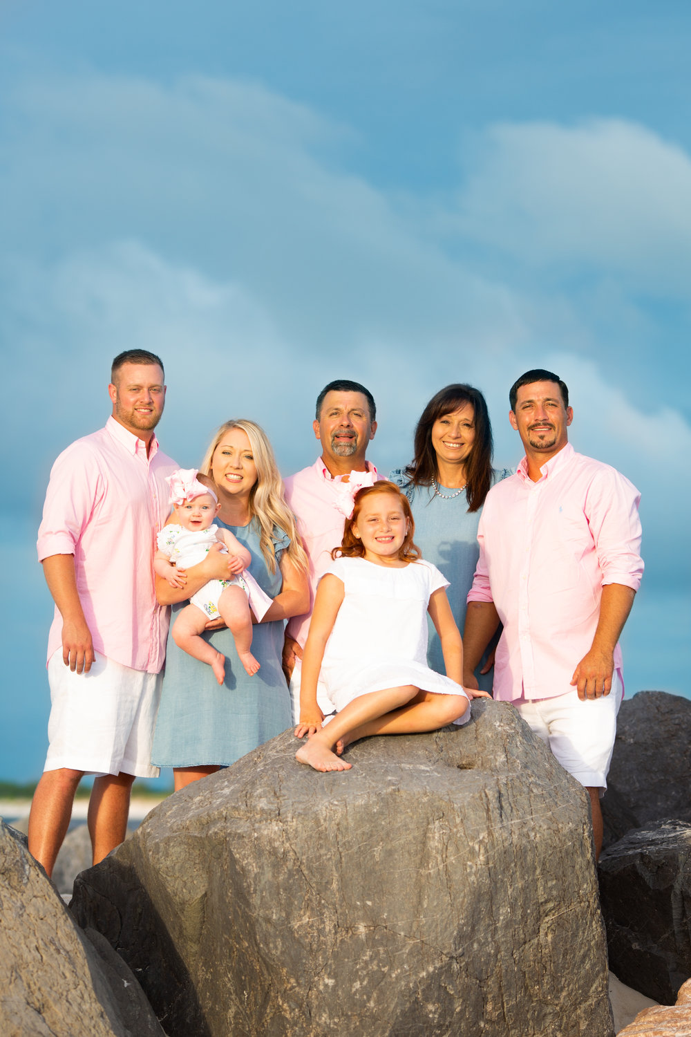 Beautiful Family Picture at a beach session.