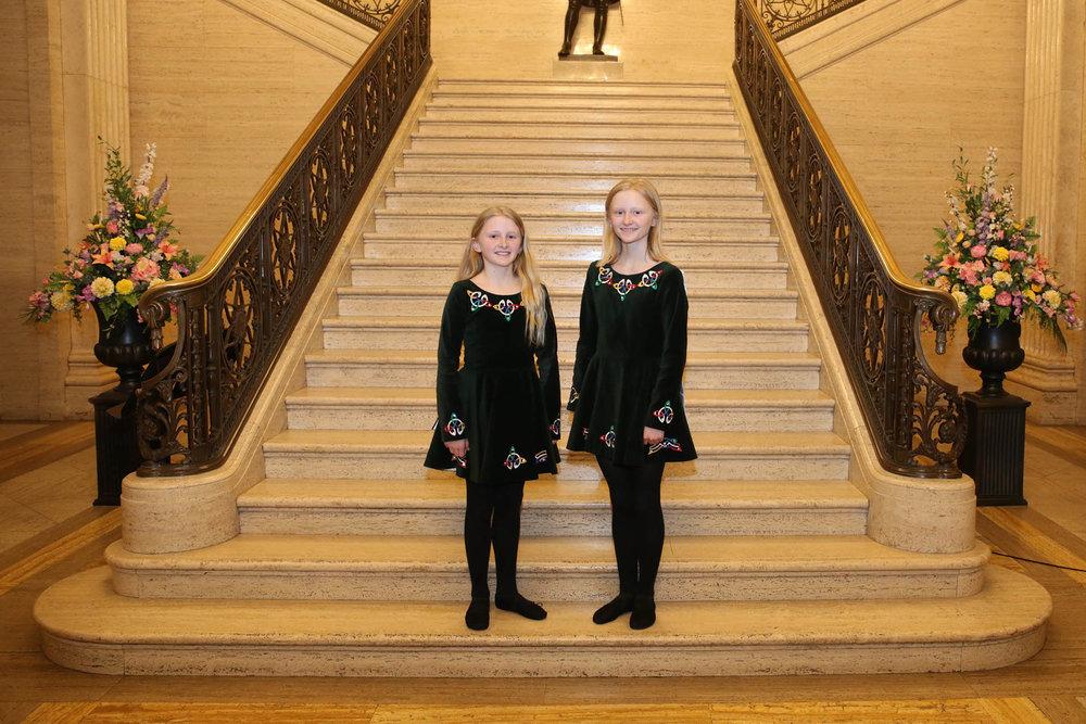 Irish dancers - Sophia and Madeleine Morwood