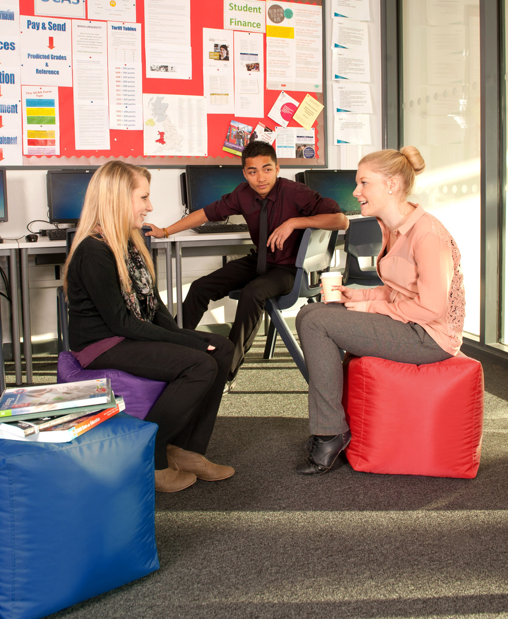 """- """"By using the luxury of reading on the bean bags as a reward system, students have extra encouragement to get into enjoying their books. It therefore promotes a positive reading model and improves the students opinions of 'reading lessons' overall.""""Sally Baker, Durrington High School"""