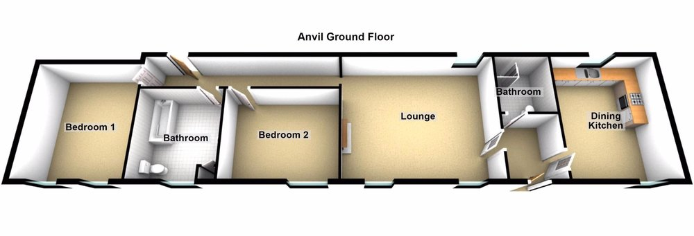Click on the floor plan to explore an interactive tour of Anvil Cottage