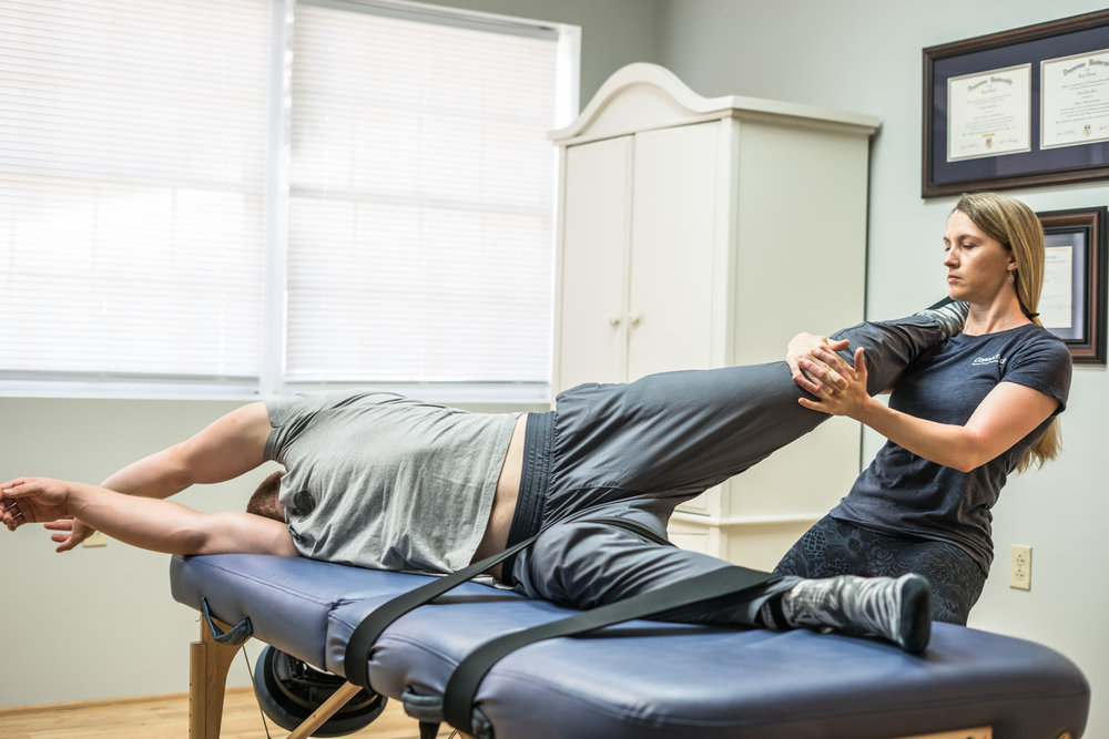 Fascial Stretch Therapy - FST Assisted Stretching targets the body's fascia, or connective tissue, to address flexibility restrictions in the long, functional lines that your body naturally uses.