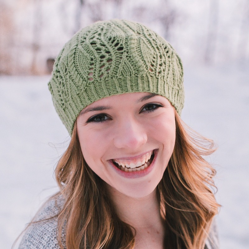 Prato Tam - by Heather ZoppettiPrato is a beautiful lace tam. A combination of eyelets, cables and decreases create the effect of flowing vines.(Photo Credit: Karisa Joy Photography)