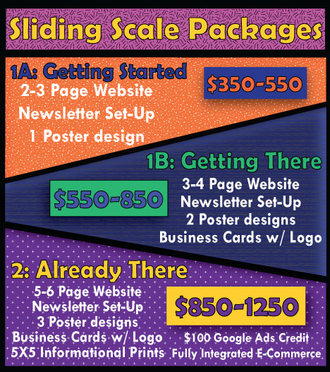All prices include annual hosting and domain fee.