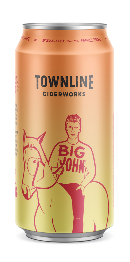 big john - This here's Big John. A sturdy blend of Jonathon, Jonagold, and Gala apples, aged in american oak. With three big flavors at the reigns, you get a well-rounded apple flavor at first taste, and some butterscotch as he rides out.2017 GLINTCAP AWARD: BRONZE - WOOD-AGED CIDER6.5% alc. / vol.