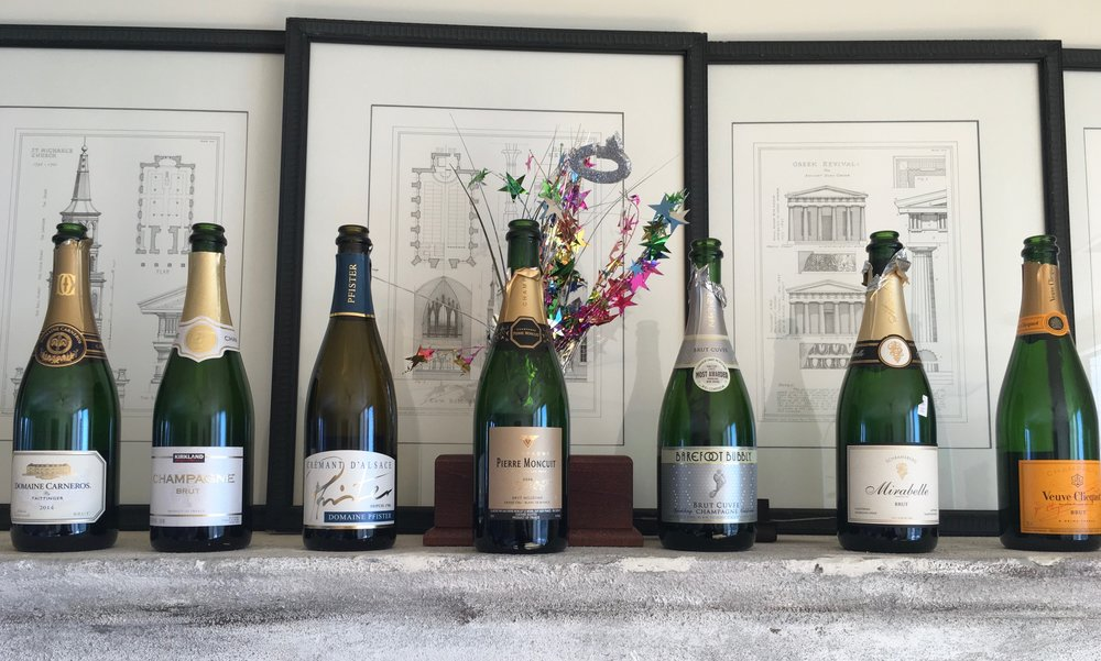 BLIND CHAMPAGNE TASTING (everyone brings a bottle and casts a vote)