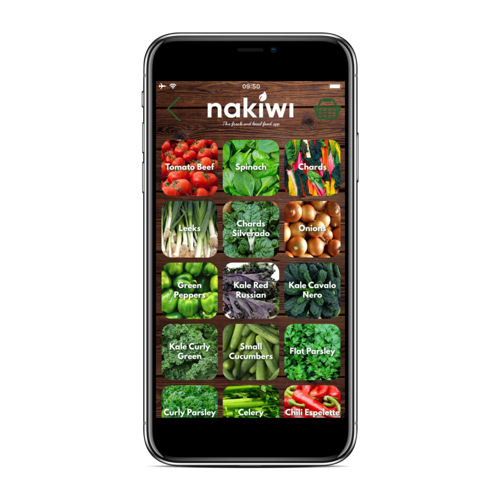 A mobile phone app where consumers can buy plastic free and natural products directly from local farmers and then pick-up their order at any Nakiwi pick-up point.