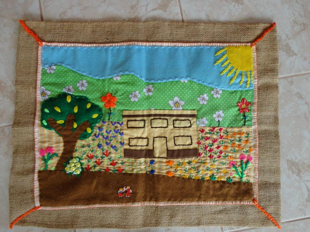Arpillera-023-Two-children-to-school.JPG