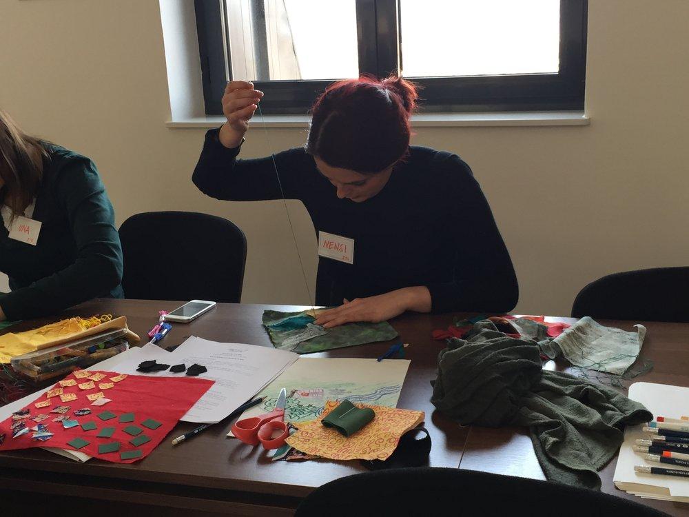 Nensi sewing in BiH.JPG