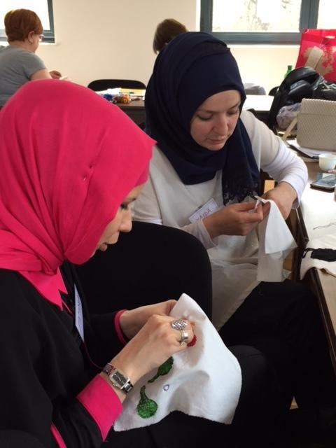 Fatima and Naida sewing.JPG