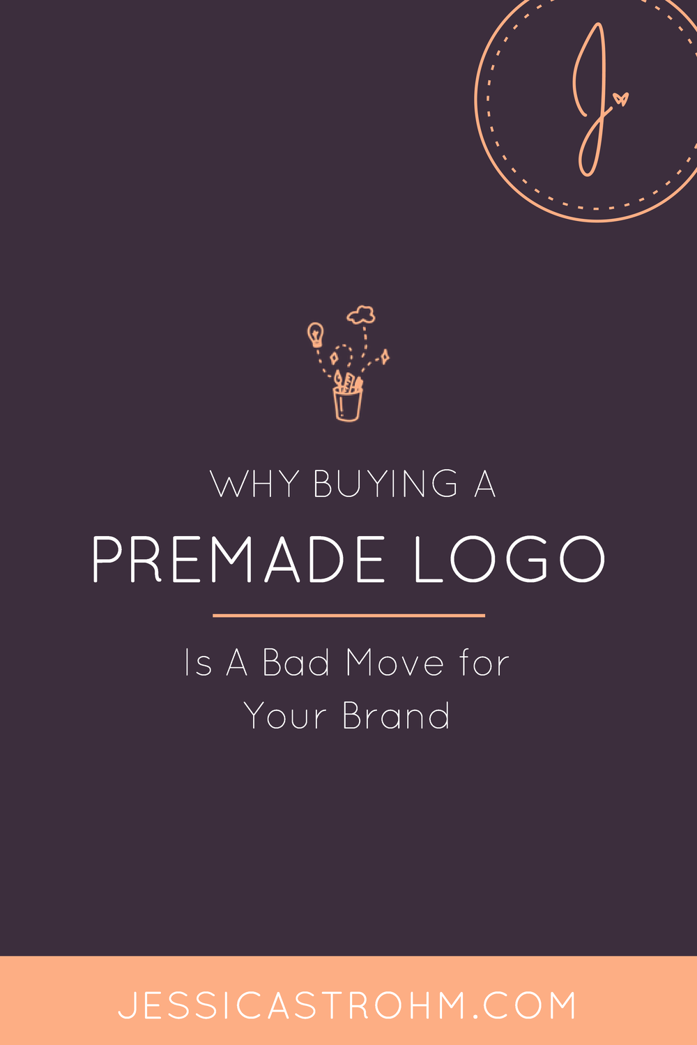 Is it bad to buy a premade logo for your business?