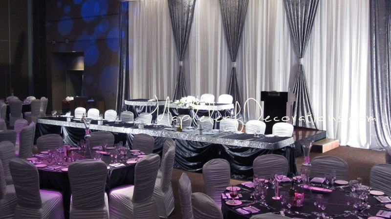 The Traditional Reception Decor Package Mapleleaf Decorations