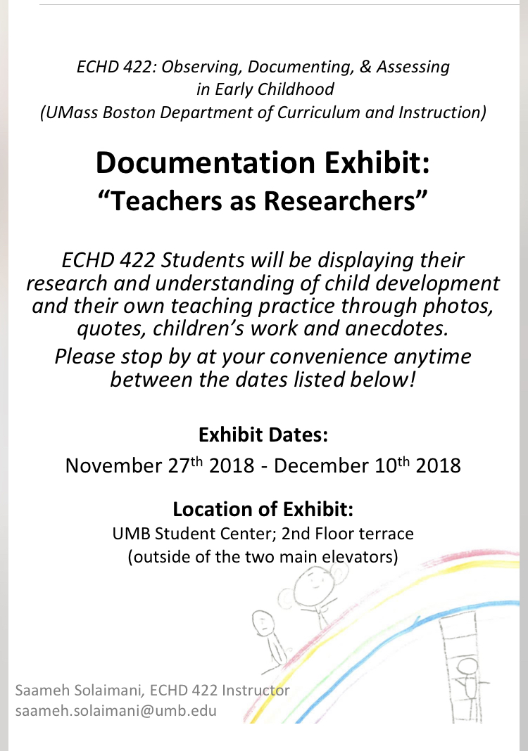 Umass Boston Early Childhood Education Students To Display Their