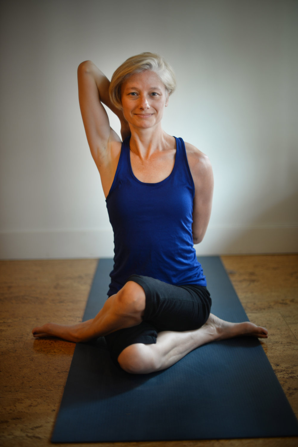 Nadine - I have been practicing yoga for over 7 years and am RYT 200 certified. I even had office yoga in my last office and experienced the benefits of it first hand. I fell in love with how yoga changed my life, so I set about to help others experience similar changes.I teach Hatha and Vinyasa style classes. Hatha classes move more slowly with the breath but the class warms you up as you move. The Vinyasa class has flowing, conscious movement to heat you up and focus your mind. I use yoga to ground you into yourself and work away soreness and tension from the day.
