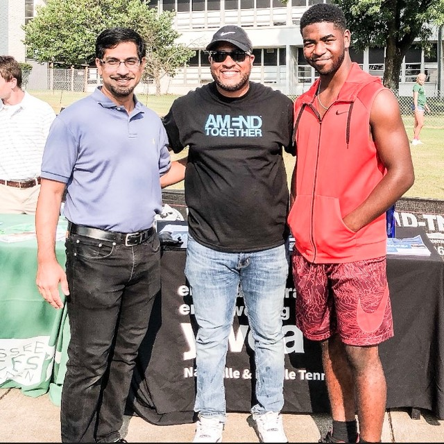 Throwback to the Hillsboro Comp High School Open House with @dmillerz , @JosiahPeek54 , and @rashed_daddy #men #mentalhealth #mentor #mentoring #mentorship #ywca #ywcanashville #AMENDTogether #challenge #cultivate #change