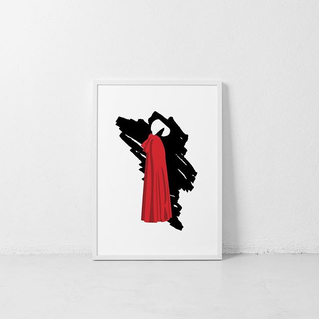 Made some Handmaid's Tale art today! . . . . #design #handmaid #handmaidstale #offred #resist #metoo #neverthelessshepersisted #nolitetebastardescarborundorum #wallart #hulu #designer #graphicdesign #graphicdesigner #illustration @hulu @handmaidsonhulu @handmaidstaleofficial