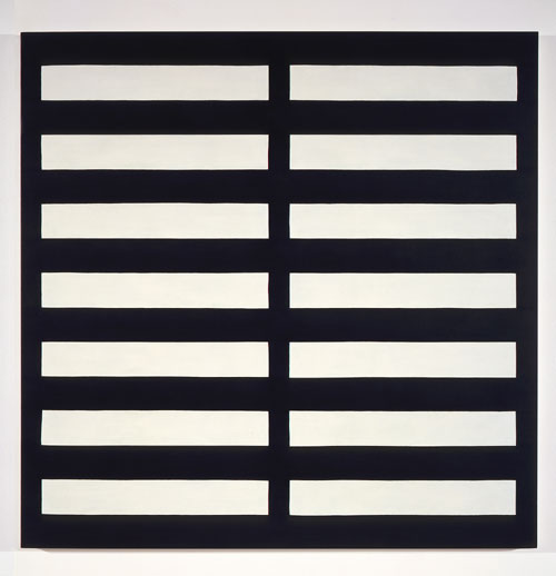 Dark Blue / 2 Ivory #1 , 1989 acrylic on canvas 60 x 60 inches