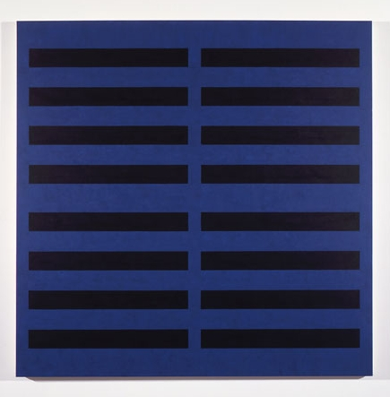 Blue / 8 Black #5 , 1989 acrylic on canvas 63 x 63 inches
