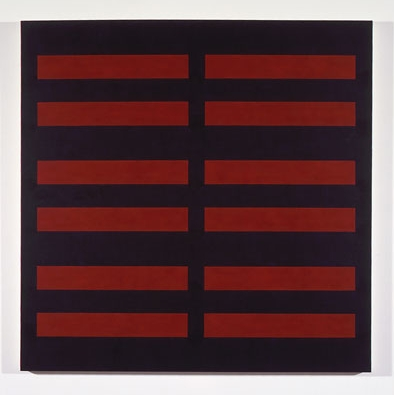 Black / 6 Red #4 , 1989 acrylic on canvas 52-1/2 x 52-1/2 inches