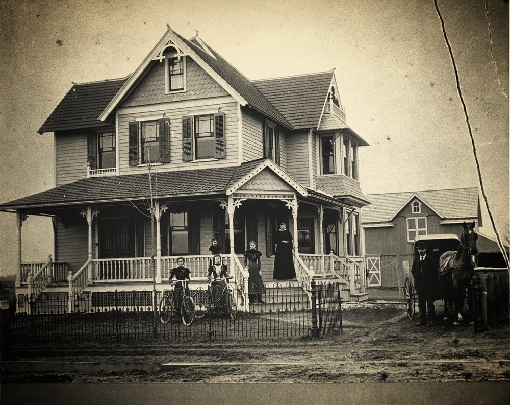 "Avis House, South Main Street, Mullica Hill, c1900.The Avis House stands at the southern end of ""Quaker Row,"" the group of houses south of Spicer Street, so called because they all belonged to Quaker families. [HTHS]"
